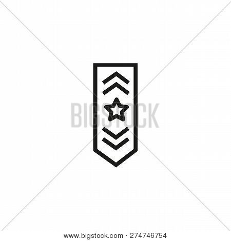 Airforce Rank Line Icon. Officer, Navy, Pilot. Military Concept. Can Be Used For Topics Like Uniform