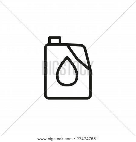 Canister Line Icon. Fuel Transportation, Canister, Reservoir. Oil Industry Concept. Vector Illustrat