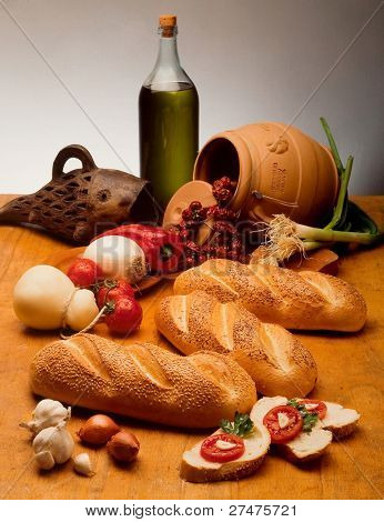 composition of bread