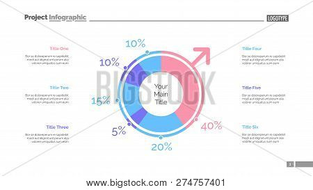 Gender Infographics Slide Template. Business Data. Graph, Diagram, Design. Creative Concept For Info