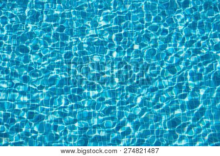 Swimming Pool Water Background - Abstract Pool Water  -