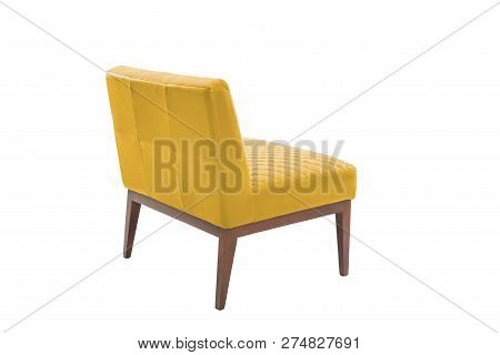 Leather And Wood Armchair Modern Designer