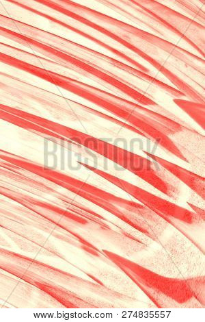 Hallucinogenic red striped astral background with copy space. poster
