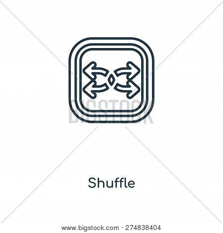 Shuffle Icon In Trendy Design Style. Shuffle Icon Isolated On White Background. Shuffle Vector Icon