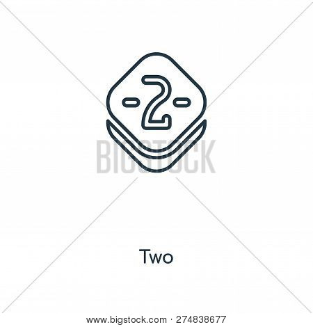 Two Icon In Trendy Design Style. Two Icon Isolated On White Background. Two Vector Icon Simple And M