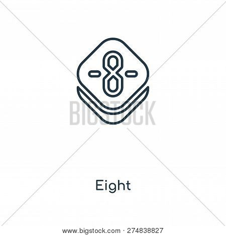 eight icon in trendy design style. eight icon isolated on white background. eight vector icon simple and modern flat symbol for web site, mobile, logo, app, UI. eight icon vector illustration, EPS10. poster
