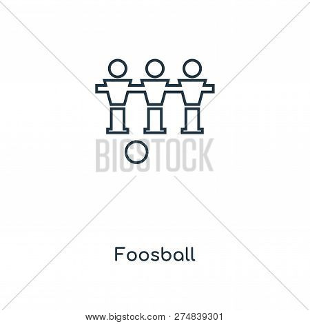 Foosball Icon In Trendy Design Style. Foosball Icon Isolated On White Background. Foosball Vector Ic