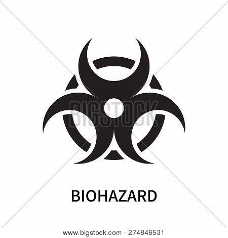 Biohazard Icon Isolated On White Background. Biohazard Icon Simple Sign. Biohazard Icon Trendy And M
