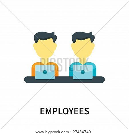Employees Icon Isolated On White Background. Employees Icon Simple Sign. Employees Icon Trendy And M