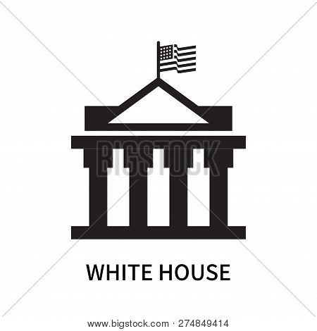 White House Icon Isolated On White Background. White House Icon Simple Sign. White House Icon Trendy