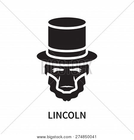 Lincoln Icon Isolated On White Background. Lincoln Icon Simple Sign. Lincoln Icon Trendy And Modern