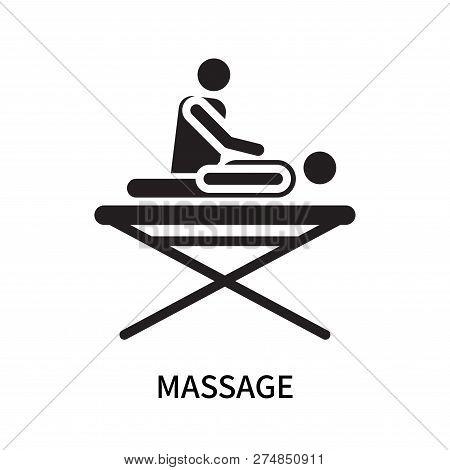 Massage Icon Isolated On White Background. Massage Icon Simple Sign. Massage Icon Trendy And Modern