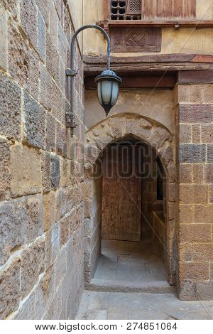 Entrance Of Historic Beit El Set Waseela Building (waseela Hanem House) Leading To The Courtyard Of