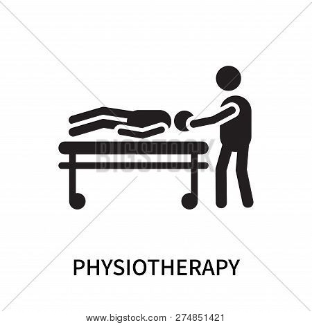Physiotherapy Icon Isolated On White Background. Physiotherapy Icon Simple Sign. Physiotherapy Icon