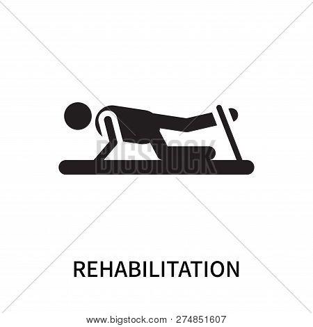 Rehabilitation Icon Isolated On White Background. Rehabilitation Icon Simple Sign. Rehabilitation Ic