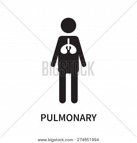 Pulmonary Icon Isolated On White Background. Pulmonary Icon Simple Sign. Pulmonary Icon Trendy And M