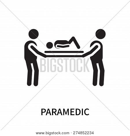 Paramedic Icon Isolated On White Background. Paramedic Icon Simple Sign. Paramedic Icon Trendy And M
