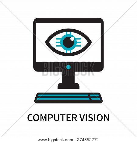 Computer Vision Icon Isolated On White Background. Computer Vision Icon Simple Sign. Computer Vision