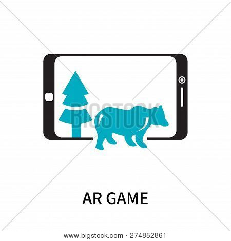 Ar Game Icon Isolated On White Background. Ar Game Icon Simple Sign. Ar Game Icon Trendy And Modern