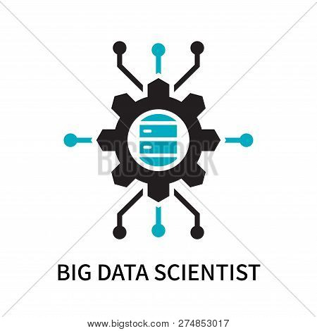Big Data Scientist Icon Isolated On White Background. Big Data Scientist Icon Simple Sign. Big Data
