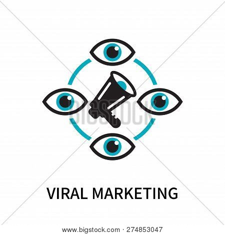 Viral Marketing Icon Isolated On White Background. Viral Marketing Icon Simple Sign. Viral Marketing