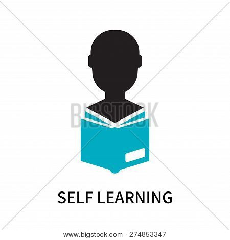Self Learning Icon Isolated On White Background. Self Learning Icon Simple Sign. Self Learning Icon