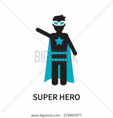 Super Hero Icon Isolated On White Background. Super Hero Icon Simple Sign. Super Hero Icon Trendy An
