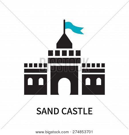 Sand Castle Icon Isolated On White Background. Sand Castle Icon Simple Sign. Sand Castle Icon Trendy