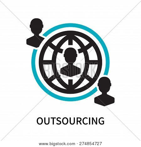Outsourcing Icon Isolated On White Background. Outsourcing Icon Simple Sign. Outsourcing Icon Trendy
