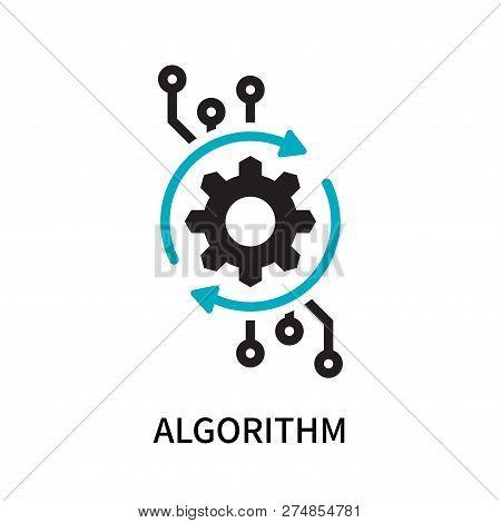 Algorithm Icon Isolated On White Background. Algorithm Icon Simple Sign. Algorithm Icon Trendy And M