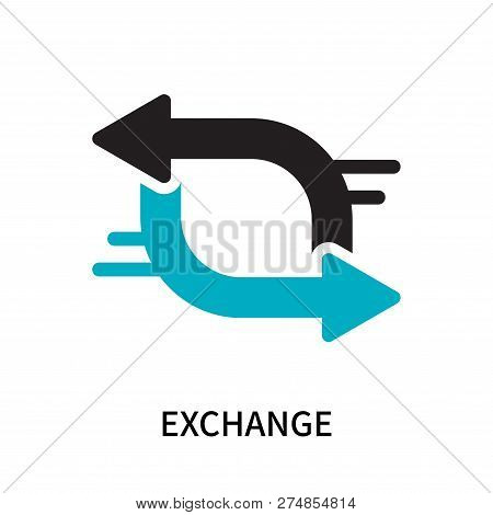Exchange Icon Isolated On White Background. Exchange Icon Simple Sign. Exchange Icon Trendy And Mode