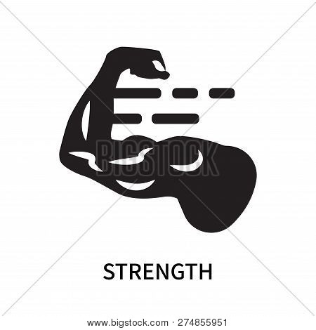 Strength Icon Isolated On White Background. Strength Icon Simple Sign. Strength Icon Trendy And Mode