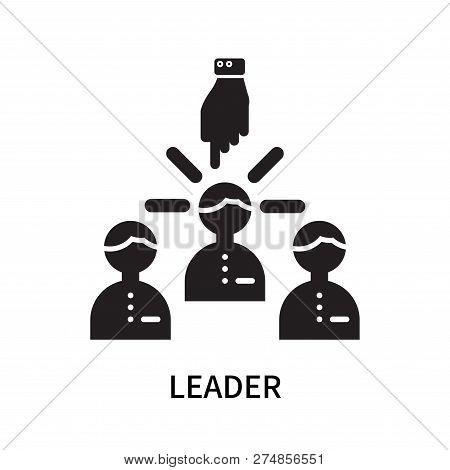 Leader Icon Isolated On White Background. Leader Icon Simple Sign. Leader Icon Trendy And Modern Sym