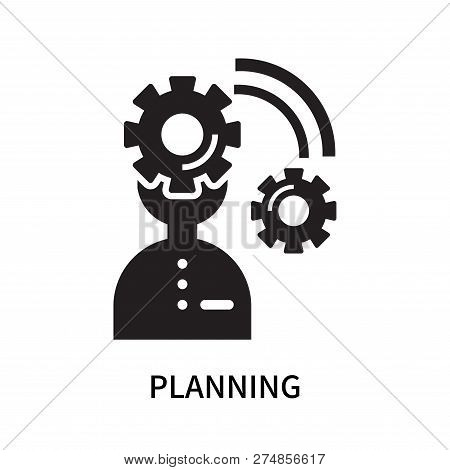 Planning Icon Isolated On White Background. Planning Icon Simple Sign. Planning Icon Trendy And Mode