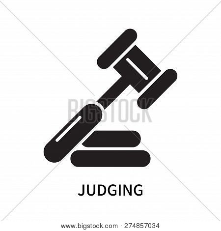 Judging Icon Isolated On White Background. Judging Icon Simple Sign. Judging Icon Trendy And Modern