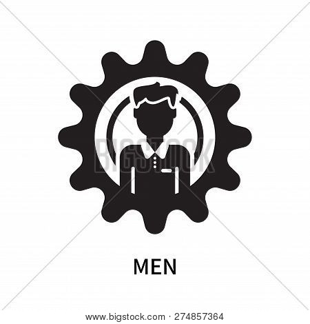 Men Icon Isolated On White Background. Men Icon Simple Sign. Men Icon Trendy And Modern Symbol For G