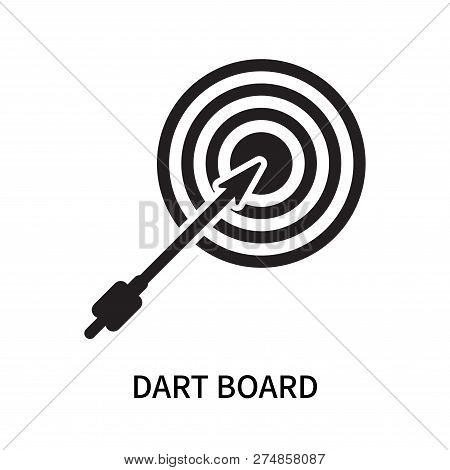 Dart Board Icon Isolated On White Background. Dart Board Icon Simple Sign. Dart Board Icon Trendy An