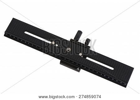Macro Focusing Rail Slider For Precision Focus Stacking, Isolated On White