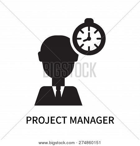 Project Manager Icon Isolated On White Background. Project Manager Icon Simple Sign. Project Manager