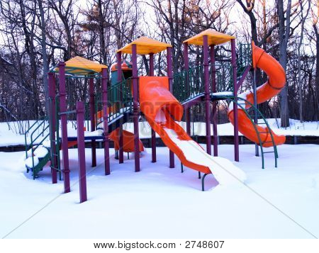 Playground Equipment In Winter