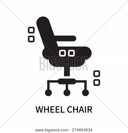 Wheel Chair Icon Isolated On White Background. Wheel Chair Icon Simple Sign. Wheel Chair Icon Trendy