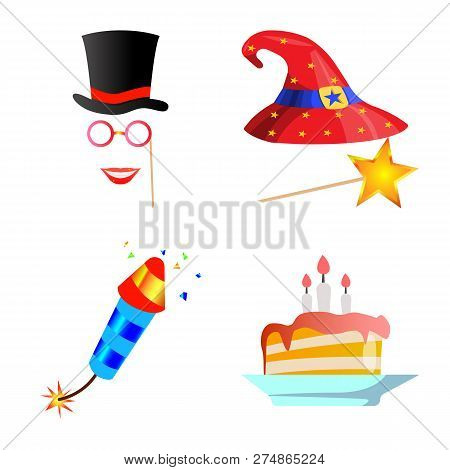 Isolated Object Of Party And Birthday Sign. Collection Of Party And Celebration Vector Icon For Stoc