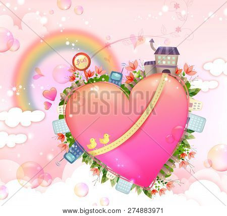 Heart shape and various facility available