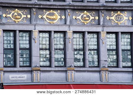 Frontage Of Ornate 16th Century Gothic German Building