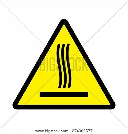 Sticker With Warning Infirmation To Hot Surface