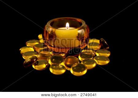 Golden Candle & Beads