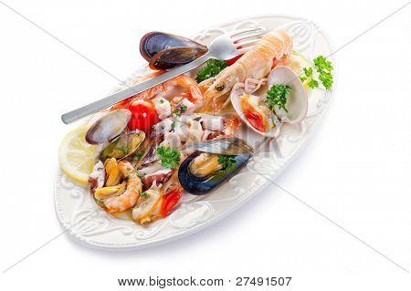 sea salad on dish