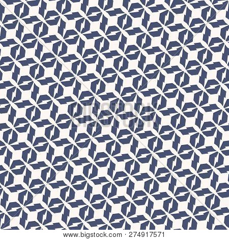 Vector Geometric Seamless Pattern. Abstract Repeat Texture With Diagonal Lines, Edgy Shapes, Grid, L