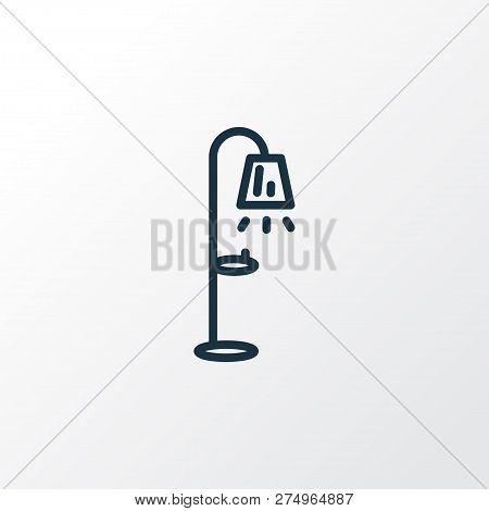 Floor Lamp Icon Line Symbol. Premium Quality Isolated Streetlight Element In Trendy Style.