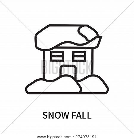 Snow Fall Icon Isolated On White Background. Snow Fall Icon Simple Sign. Snow Fall Icon Trendy And M